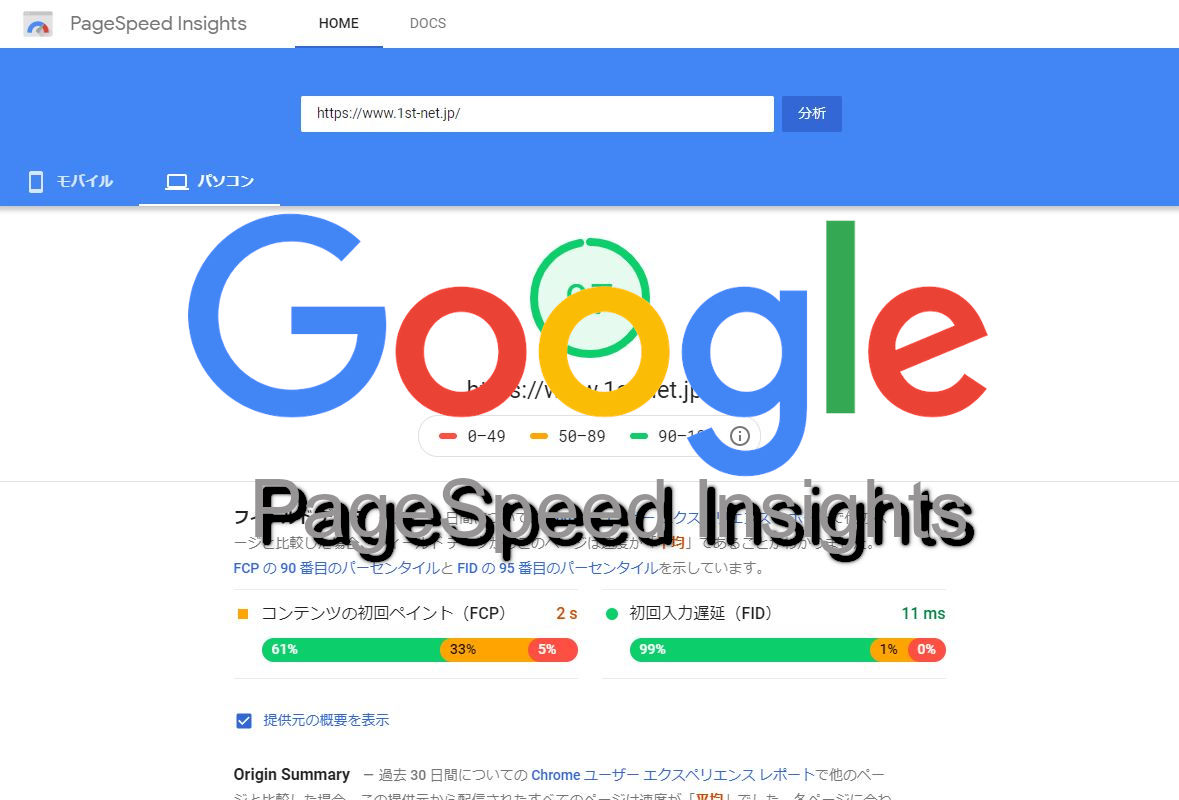 google PageSpeed Insightアイキャッチ